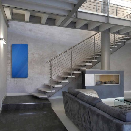 Radiateur à eau chaude en verre trempé Jonny, de design moderne