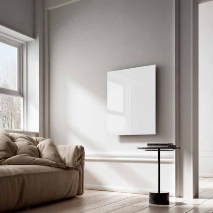 Radiateur électrique infrarouge de design en verre blanc Clear