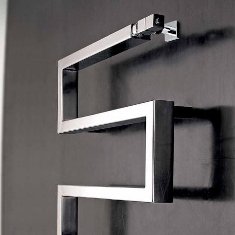 radiateur électrique chromé design moderne Snake H Scirocco
