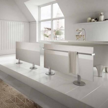 Radiateur électrique de sol de design en verre blanc Star