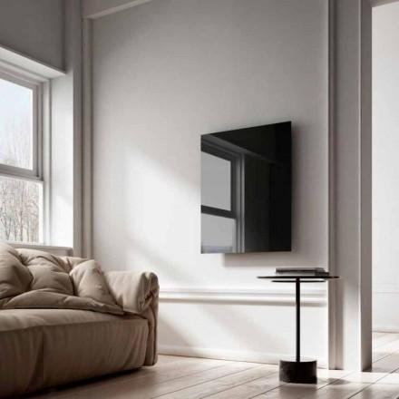 Radiateur électrique infrarouge de design en verre noir Clear