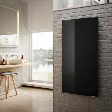 Radiateur électrique de design en verre noir Star, fait en Italie