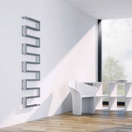 Radiateur vertical chromé à eau chaude Snake fait en Italie Scirocco H