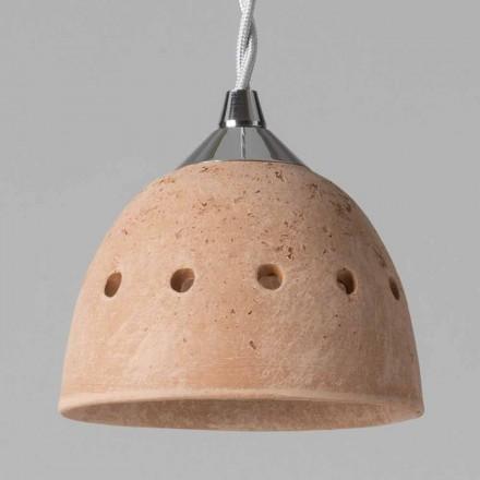 Toscot Apuane suspension sans rosace en terre cuite
