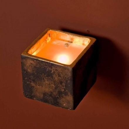 Toscot Montecristo applique en forme de cube en terre cuite