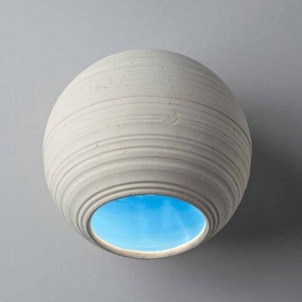 Toscot Newton plafonnier moderne en terre cuite, fait à la main