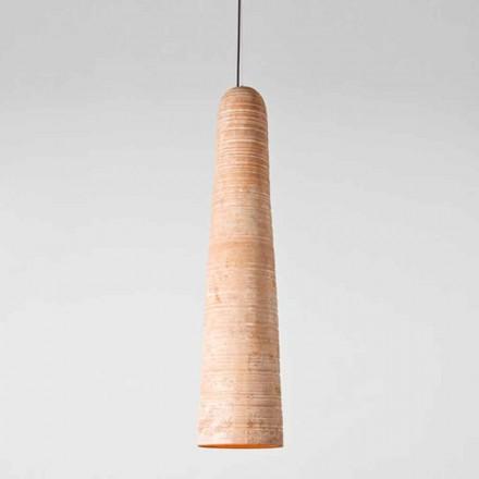 Toscot Notorius suspension artisanale grande en terre cuite