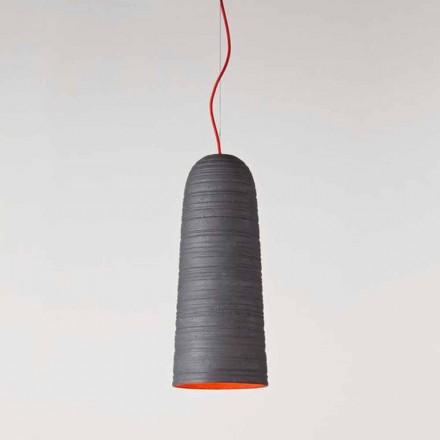 Toscot Notorius suspension artisanale petite en terre cuite
