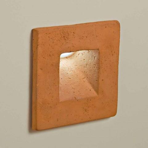 Applique Terre Led En Square Toscot Murale D'extérieure Cuite 7Yb6fgy