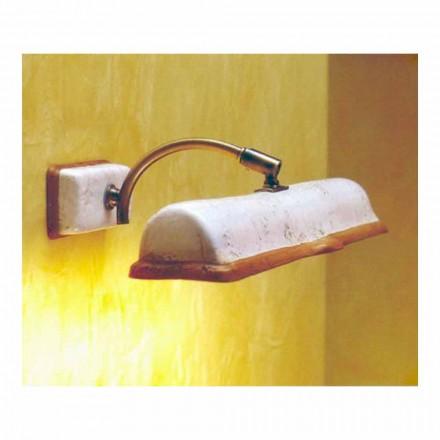 Toscot Vinci applique 2 lumières en terre cuite faite à la main