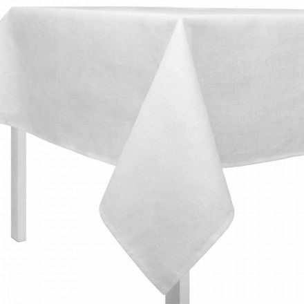 Nappe en Lin Blanc Créme, Rectangulaire ou Carrée Made in Italy – Blessy