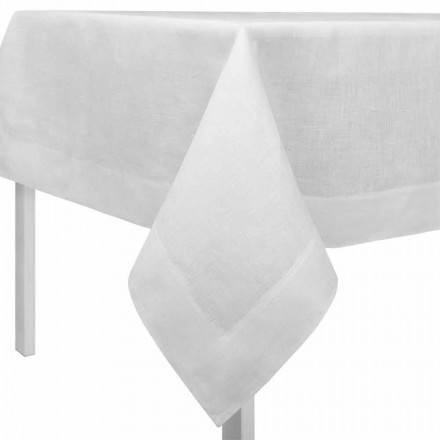 Nappe en Lin Blanc Créme, Rectangulaire ou Carrée Made in Italy – Poppy
