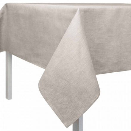Nappe Carrée ou Rectangulaire en Lin Naturel Couleur Made in Italy – Blessy
