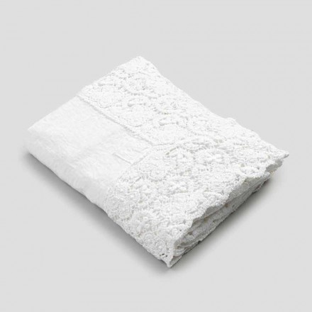 Nappe Rectangulaire en Lin et Coton Dentelle de Design de Luxe - Olimpia
