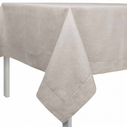 Nappe Rectangulaire ou Carrée en Lin Naturel Made in Italy – Chiana