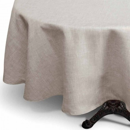 Nappe Ronde en Lin Pur Couleur Naturelle Made in Italy – Blessy