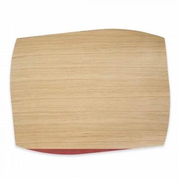 Set de Table Rectangulaire Moderne en Bois de Chêne Fabriqué en Italie - Abraham