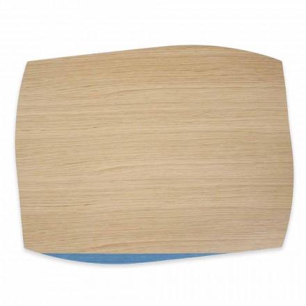 4 sets de table rectangulaires modernes en bois de chêne fabriqués en Italie - Abraham