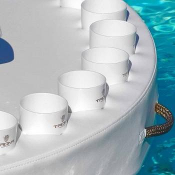 Trona bar flottant conception du bateau en faux cuir et méthacrylate