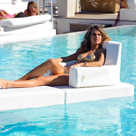 Fauteuil flottant de piscine blanc Trona fait en Italie