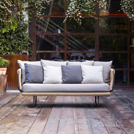 Canapé de jardin à 2 places, de design moderne modèle Varaschin Babylon