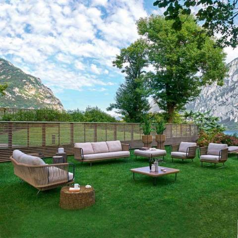 Salon de jardin de design moderne, base en aluminium Varaschin Babylon
