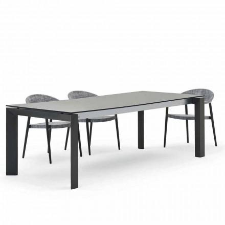 Table d'extérieur de design moderne, 240x100 cm Varaschin Dolmen