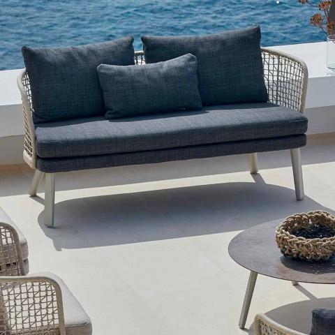 Canapé de jardin rembourré moderne à deux places Varaschin Emma