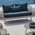 Canapé de jardin 2 places de design moderne Varaschin Emma