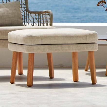 Repose-pied de jardin en tissu rembourré design moderne Emma Varaschin
