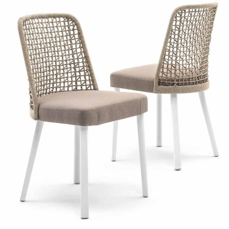Varaschin chaise d'extérieur Emma en tissu et aluminium