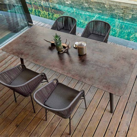 Varaschin Link table de salle à manger d'extérierur / intérieur H65 cm