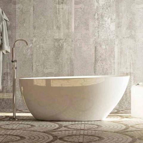 Baignoire ovale design autoportant fabriqué en Italie Albenga