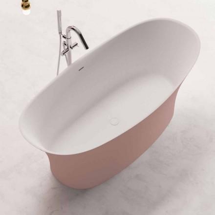Bagnoire Ilot Bi-couleur, Design Solid Surface – Look
