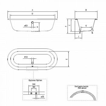 Baignoire Autoportante Design Vintage en Fonte, Fabriquée en Italie - Naima