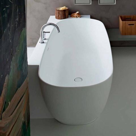Baignoire autoportante design blanc de style moderne - Lipperiavas1