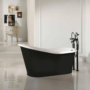 conception de bain autoportant fonte fer peint Vieux