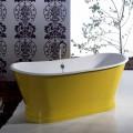 Baignoire freestanding en fonte colorée de design moderne Betty