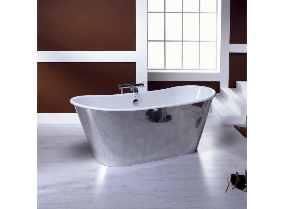 plaqué baignoire autoportante en fonte d'aluminium Ida