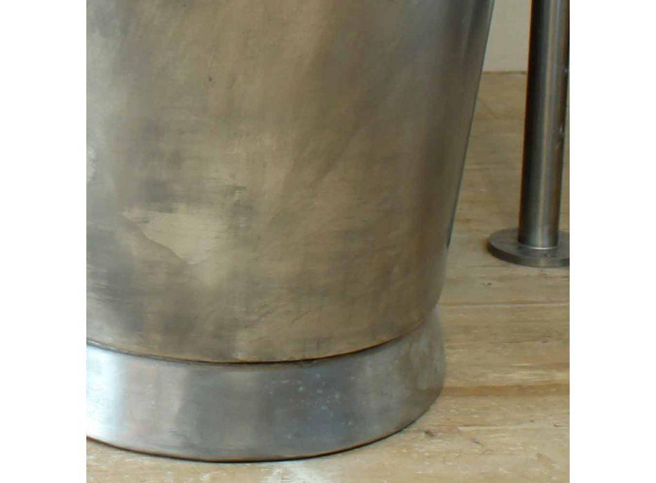 Baignoire autoportante bain de cuivre fini en nickel Julia