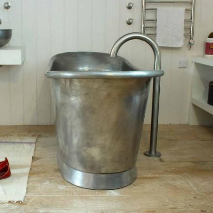 Baignoire freestanding en cuivre finition de fer blanc Julia