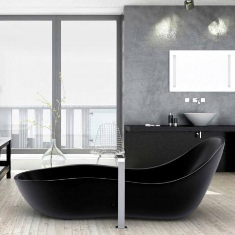 Baignoire laqué autoportante, design moderne, Vague