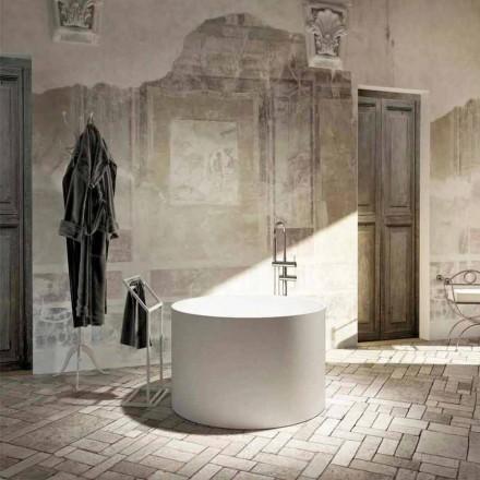 Baignoire îlot ronde de design moderne Cremona, made in Italy