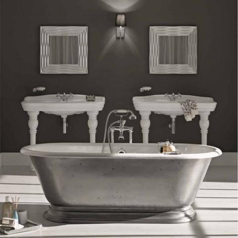 Baignoire en salle de bains design en fonte Pierce finition brillante