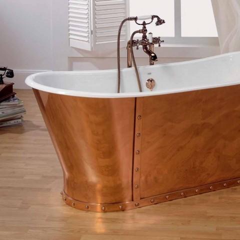 Baignoire plaqué bain en fonte à l'extérieur du cuivre Henry