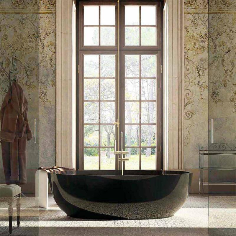 Baignoire design ovale sur pied made in Italy Fabriano