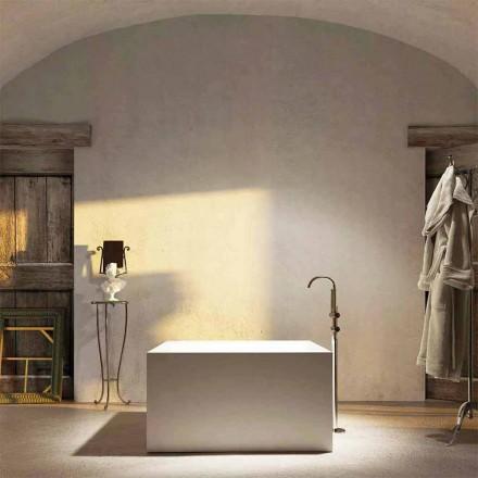 Baignoire îlot carrée Argentera de design moderne, made in Italy