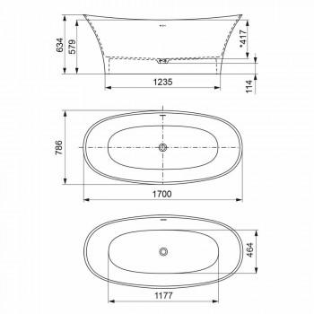 Baignoire design sur pied, Design en surface solide - Look