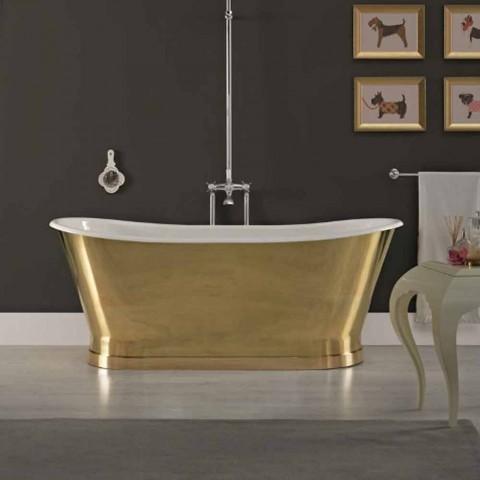 conception baignoire en fonte avec revêtement extérieur Roy Brass