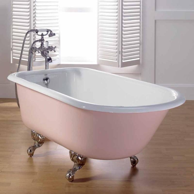 salle de bain design décoré avec peint pieds en fonte Sally
